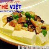 Cách làm món đậu phụ với tôm hấp bằng lò viba