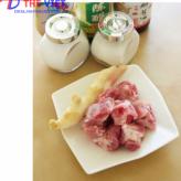 Cách nấu sườn non hấp gừng bằng lò viba
