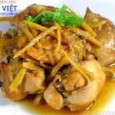 Cách nấu món gà kho gừng bằng lò viba